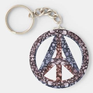 Skulls, Peace & Anarchy Keychain