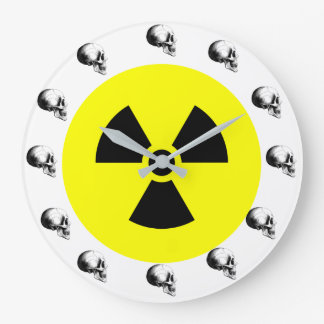 Skulls Radiation Sign Wall Clock