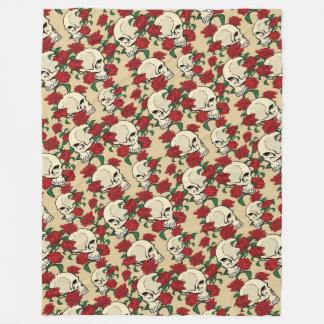 Skulls & Roses Fleece Blanket