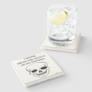 skulls stone coaster
