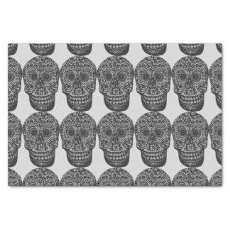 skulls tissue paper