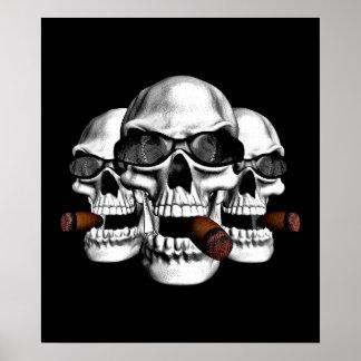 Skulls wearing Shades Poster