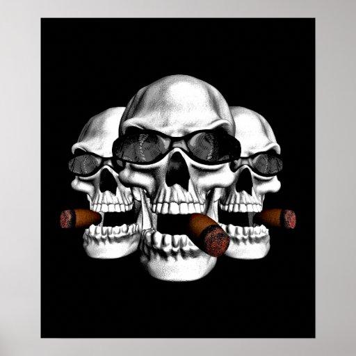 Skulls wearing Shades Posters