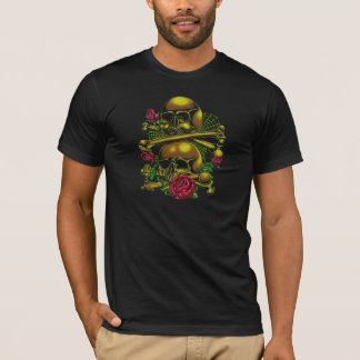Skulls, Webs, and Roses T-Shirt
