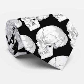 skulls with black background tie