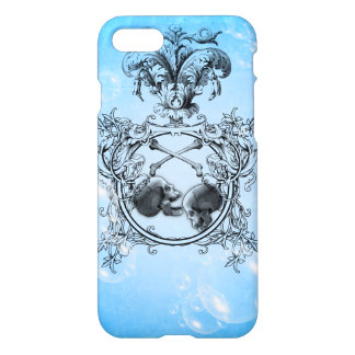 Skulls with crow and bubbles iPhone 7 case