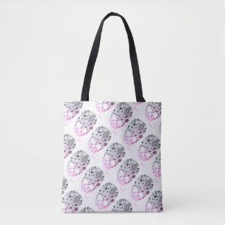 skulls with diamonds tote bag