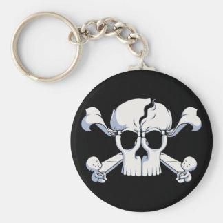 Skullusion Basic Round Button Keychain