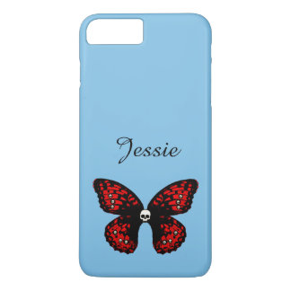 Skully Butterfly, Add Name Phone Case