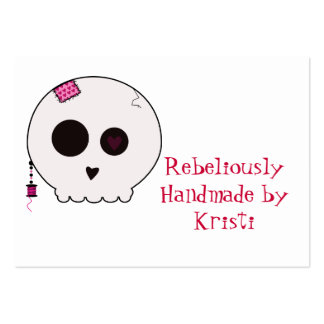 Skully Crafter Hang Tag Pack Of Chubby Business Cards