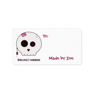 Skully Crafter Medium Size Gift Tags