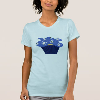 Skully Cupcake Womens T-Shirt