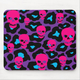 Skully Leopard Mouse Pad