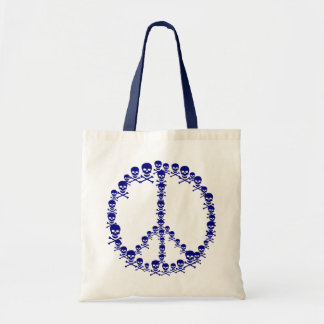 Skully Peace Sign Budget Tote Bag