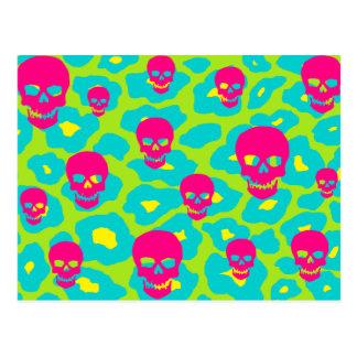 Skully Pop Leopard Postcard