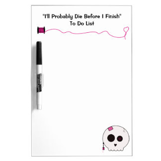 Skully Sewing To Do List Dry Erase Board