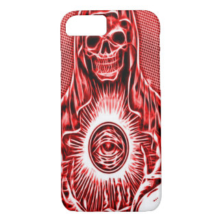 Skully Skull Death Fractal Reaper iPhone 7 Case