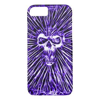 Skully Skull Indigo Hell Fractal Art iPhone 7 Case