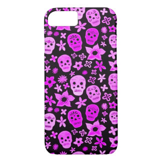 Skully Skull Purple Dead Festival iPhone 7 Case