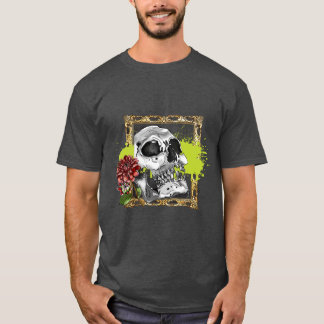 Skully with Dahlias T-Shirt