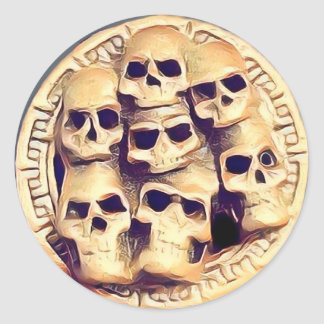 Skullz Classic Round Sticker