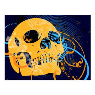skullz up twisted arrows post cards