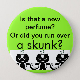 Skunk 4 Inch Round Button
