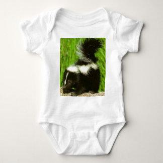 skunk baby bodysuit
