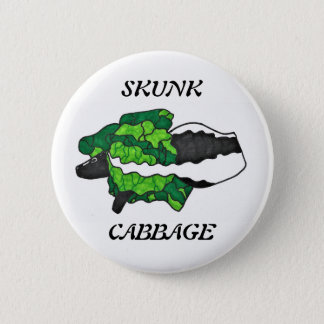 Skunk Cabbage Art Button