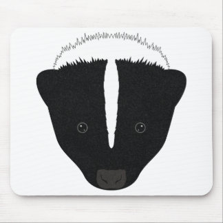 Skunk Face Mouse Pad