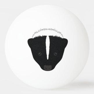 Skunk Face Ping Pong Ball