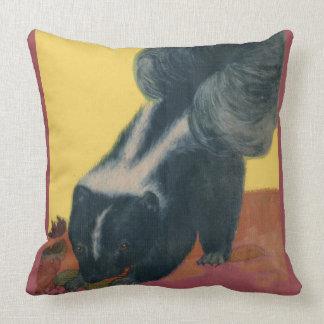 skunk print throw pillow