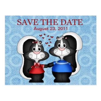 Skunk  Save the Date Postcard