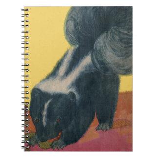 skunk spiral notebook