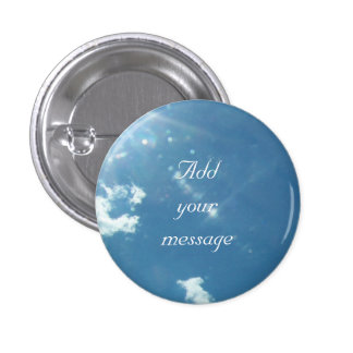 Sky 5992 - Sun and Clouds 1 Inch Round Button