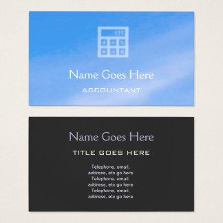 """Sky"" Accountant Business Cards"