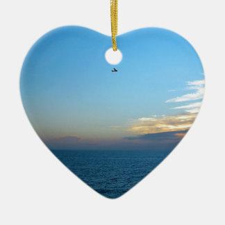 Sky Alone In The Ceramic Heart Ornament