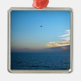Sky Alone In The Silver-Colored Square Ornament