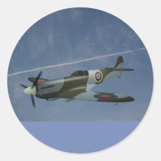 Sky and airplane sticker