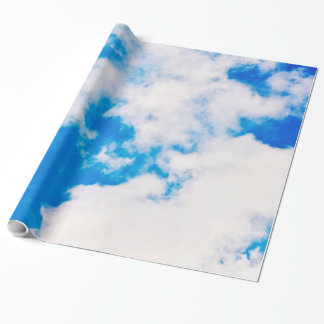 Sky and clouds wrapping paper
