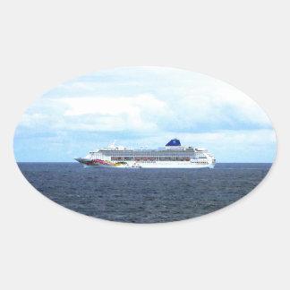 Sky at Sea Oval Sticker