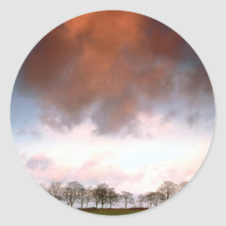 Sky Auburn Round Sticker