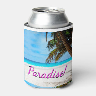 Sky, beach, palm trees - Paradise! Can Cooler
