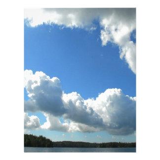 Sky Beautiful Lake Clouds Customized Letterhead
