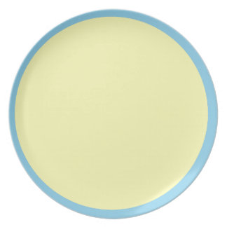 Sky Blue and Pale Yellow Plate