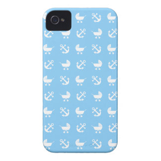 Sky blue baby boy nautical pattern iPhone 4 Case-Mate case