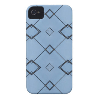 Sky Blue Background Modern Black Geometrical Case-Mate iPhone 4 Cases
