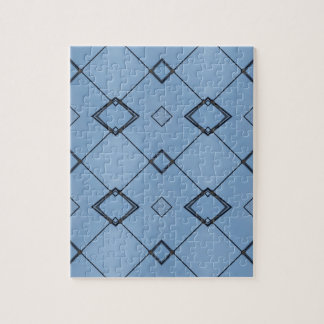 Sky Blue Background Modern Black Geometrical Puzzle
