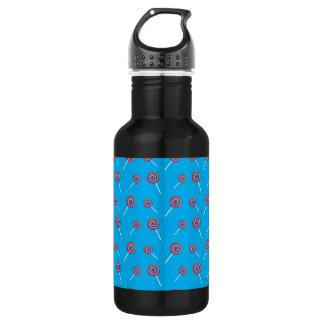 sky blue candy pattern 18oz water bottle