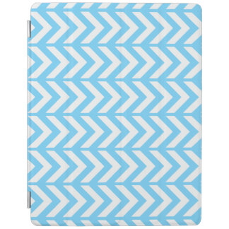 Sky Blue Chevron 3 iPad Cover